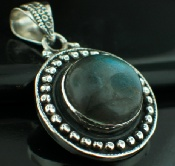 Sterling silver SP - Labradorite Pendants_SilverPlated