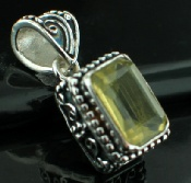 Sterling silver SP - Lemon Quartz (15ctw) Pendants_SilverPlated