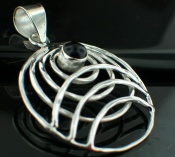 Sterling silver SP - Black Onyx Pendants_SilverPlated