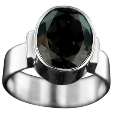 Sterling silver Smokey Quartz (10ctw) ring