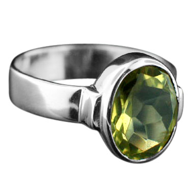Sterling silver Lemon Quartz (7ctw) ring