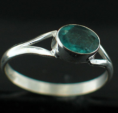 Sterling silver Flourite (2ctw) Ring