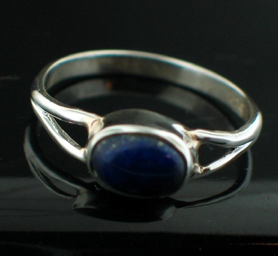 Sterling silver Lapis (2ctw) Ring