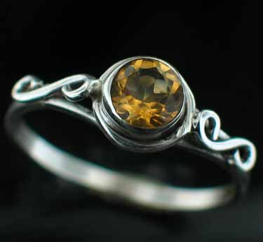 Sterling silver Citrine (1.5ctw) Ring