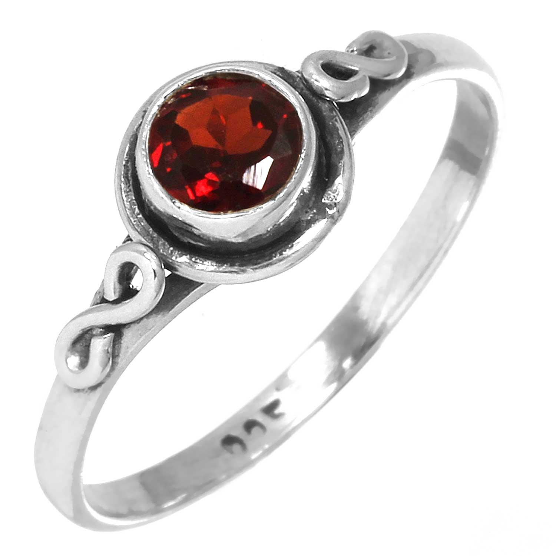 Sterling silver Garnet (1ctw) Ring