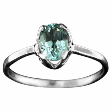 Sterling silver Blue Topaz (3ctw) Ring