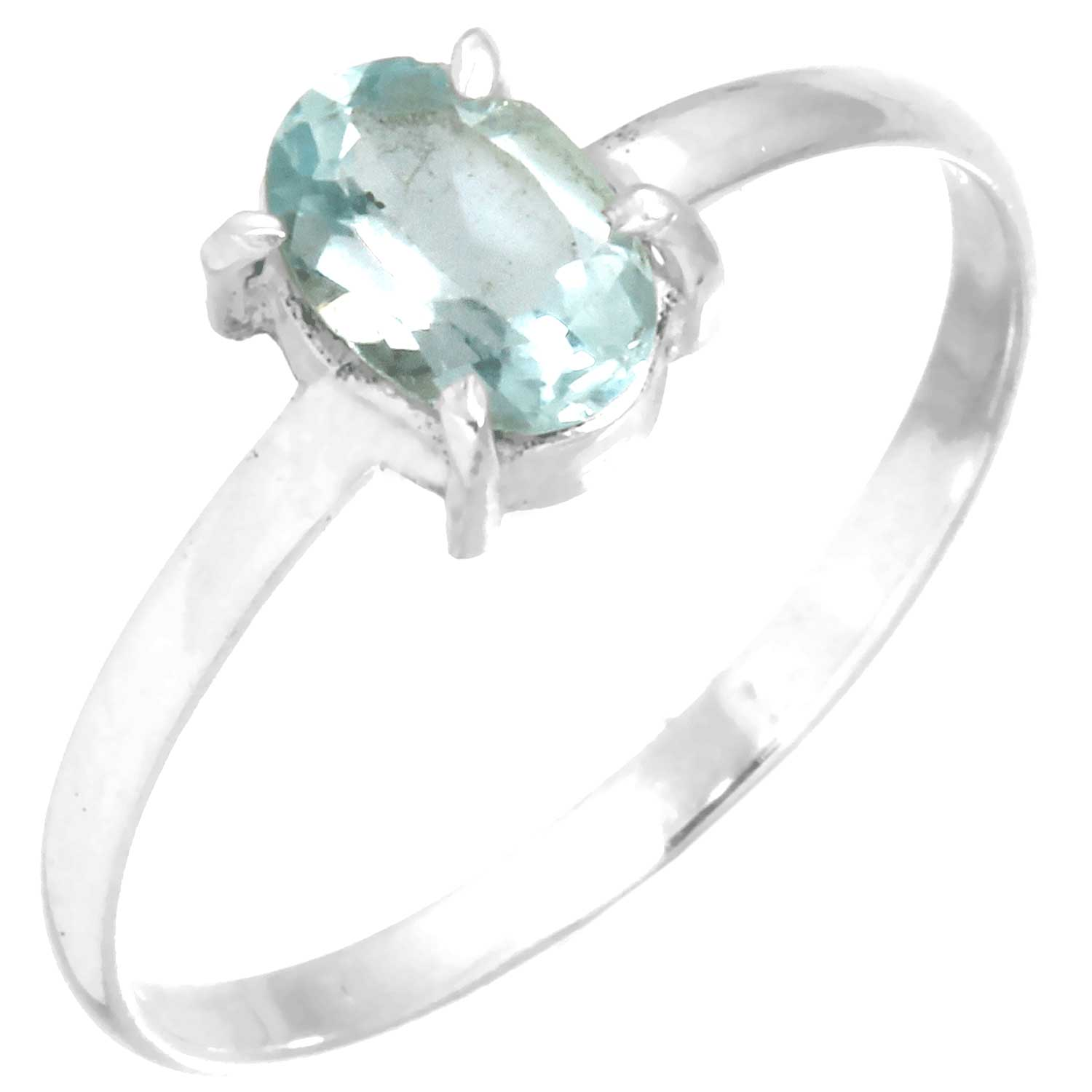 Sterling silver Fluorite (2ctw) Ring