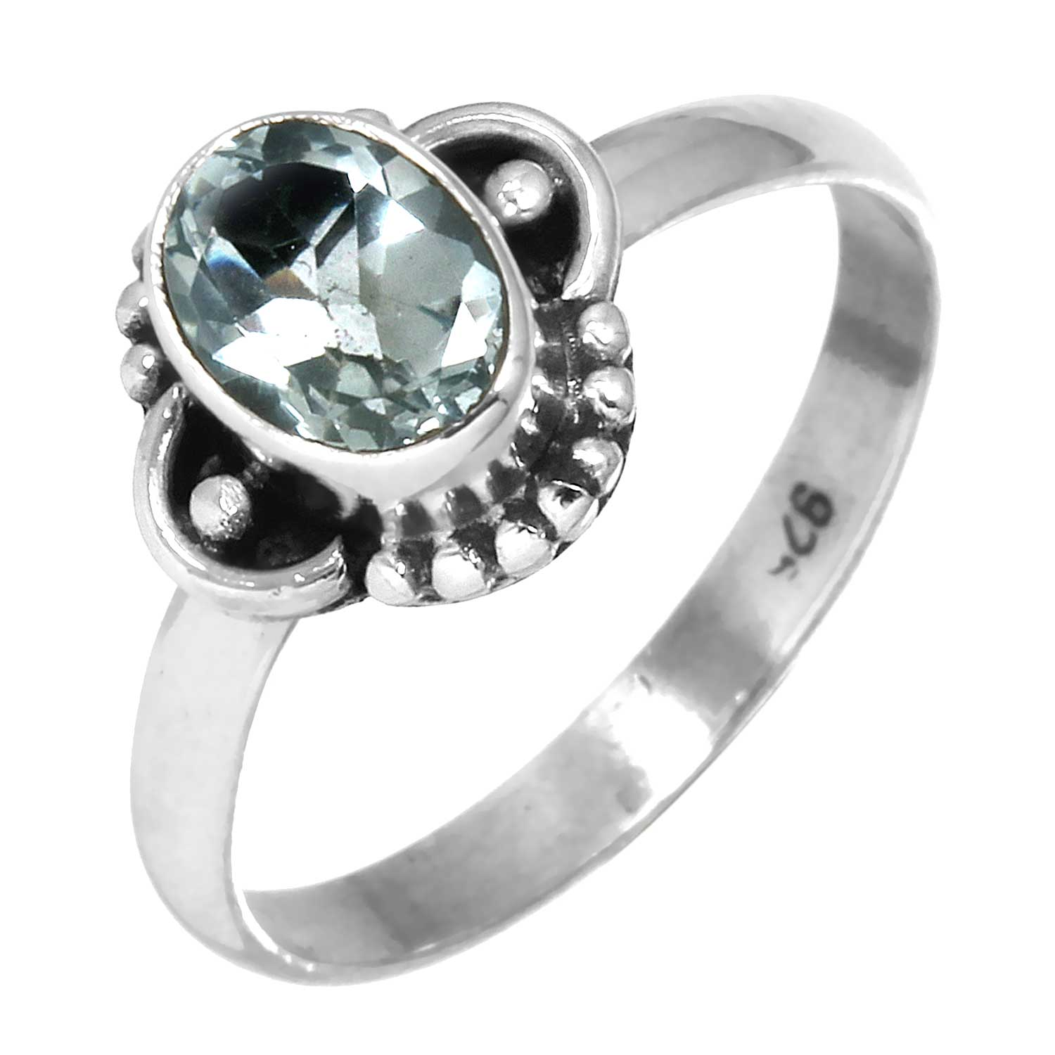 Sterling silver Blue Topaz (1 ctw) Ring
