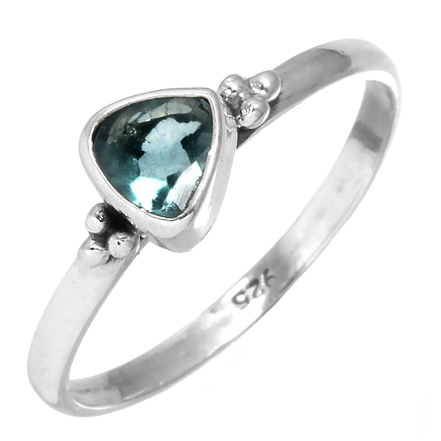 Sterling silver Fluorite (1 ctw) Ring