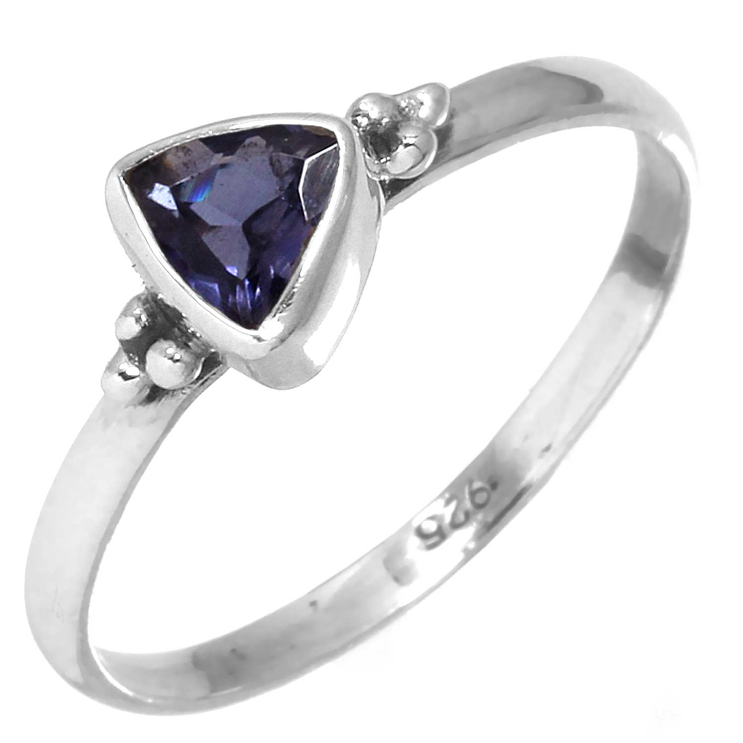 Sterling silver Iolite (1 ctw) Ring
