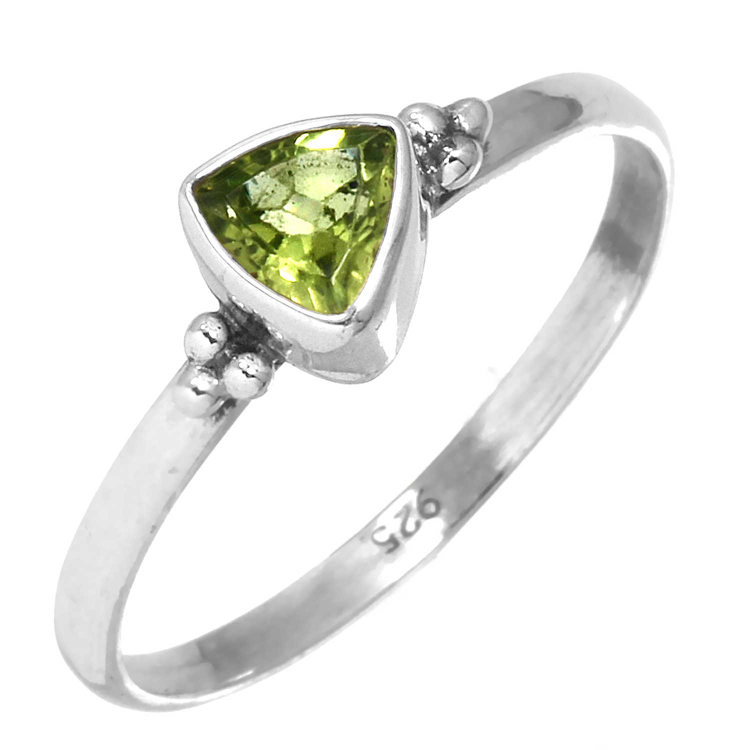 Sterling silver Peridot (1.5ctw) Ring