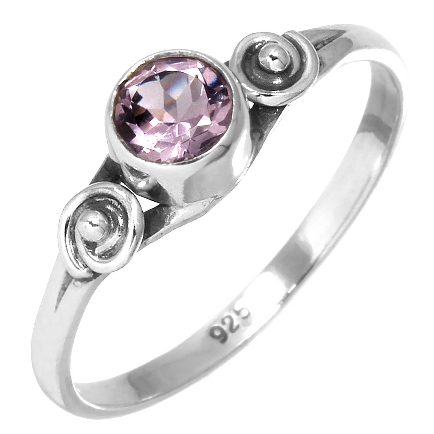 Sterling silver Amethyst (1 ctw) Ring