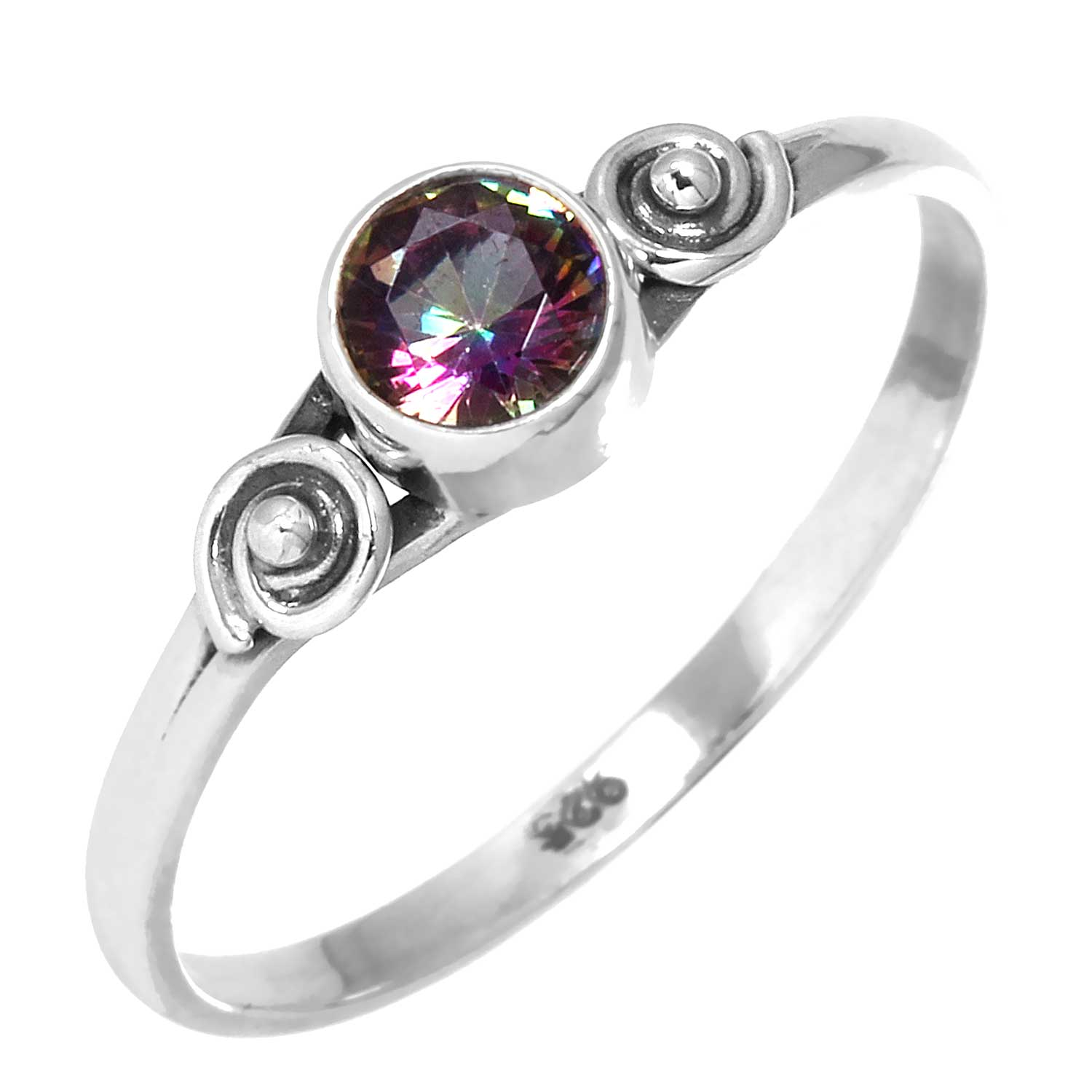 Sterling silver Mystic Topaz (1 ctw) Ring