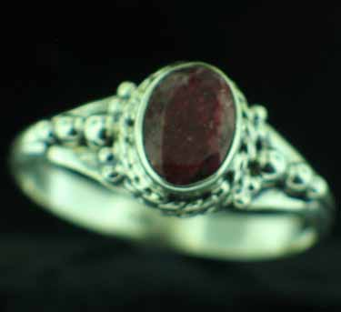 Sterling silver Ruby (1.5ctw) Ring