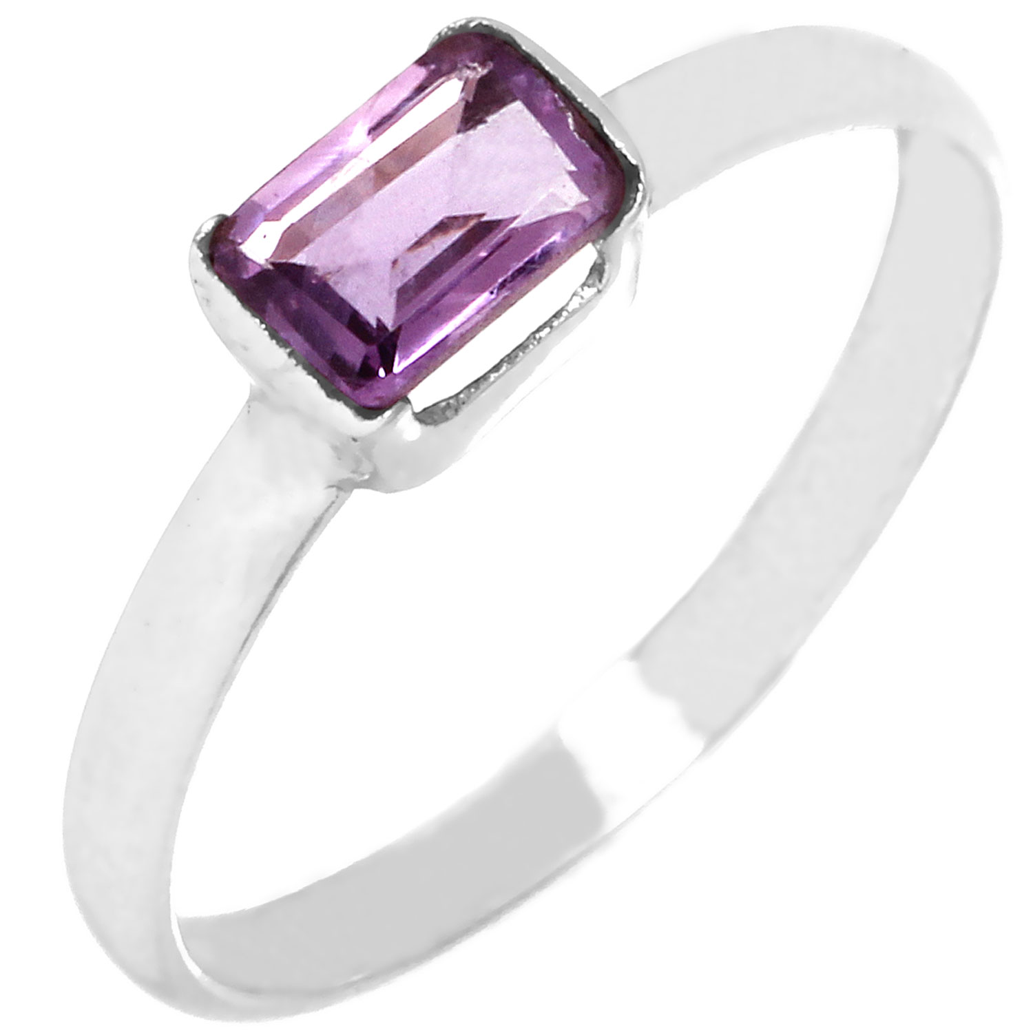 Sterling silver Amethyst (2ctw) Ring