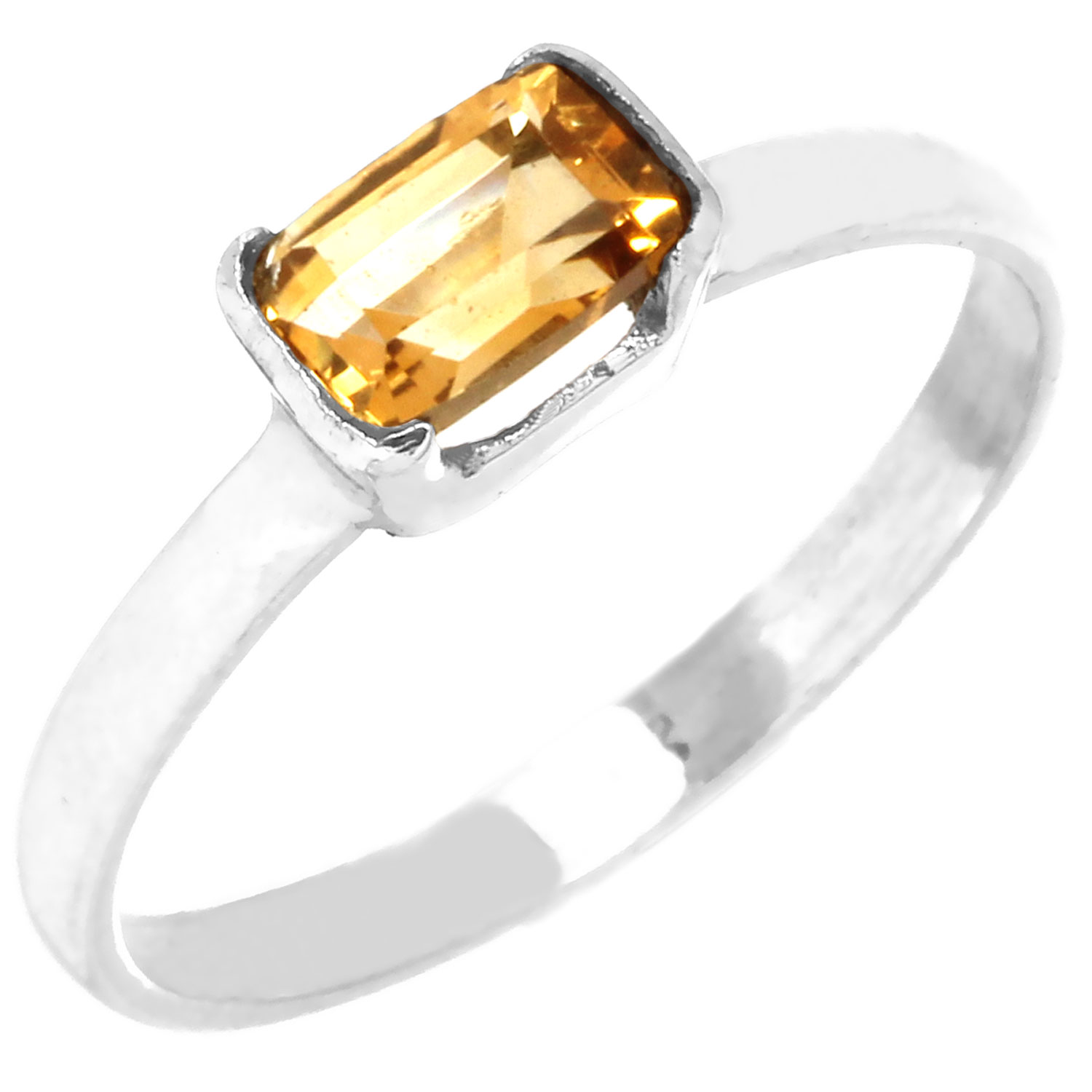 Sterling silver Citrine (2ctw) Ring