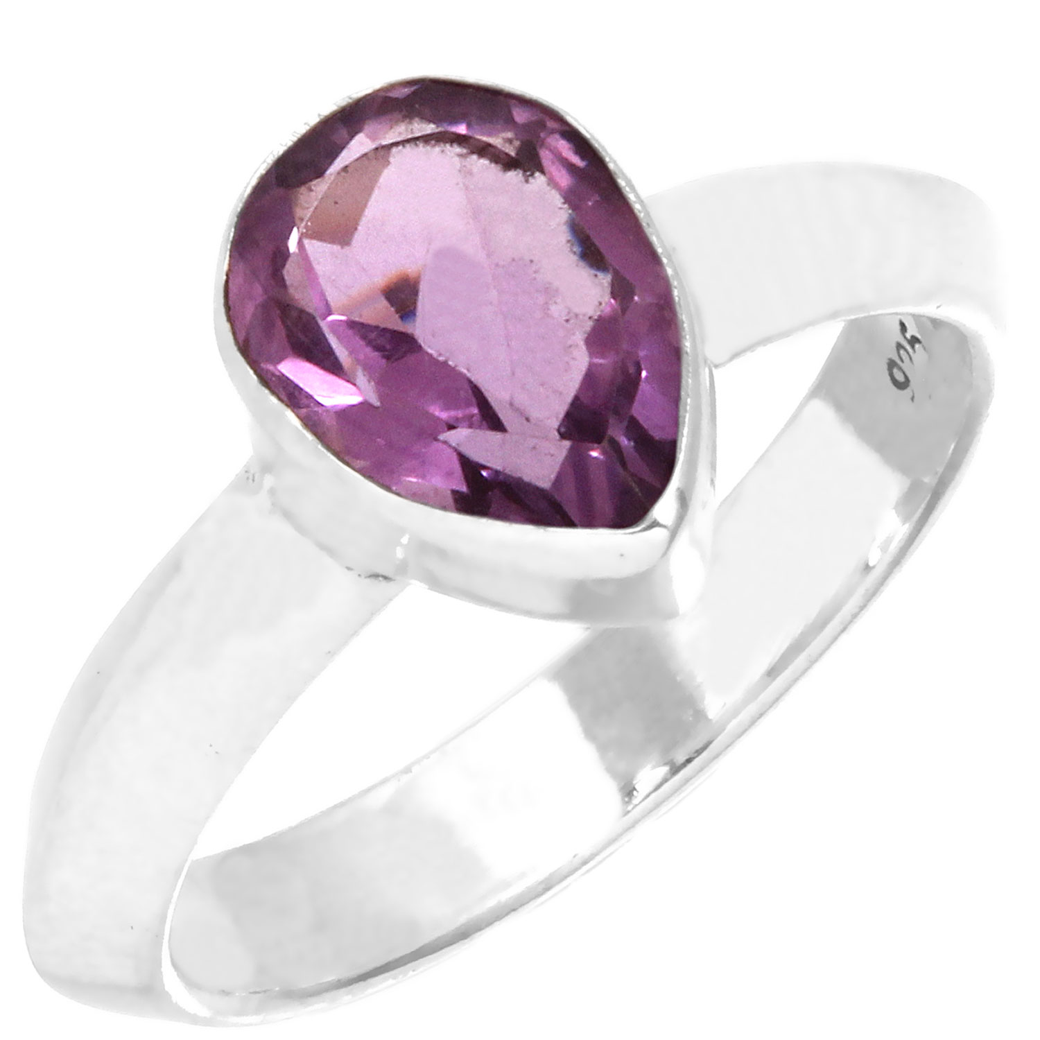 Sterling silver Amethyst (4ctw) Ring