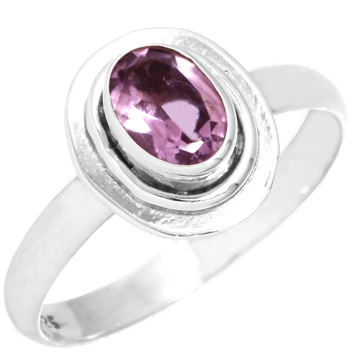 Sterling silver Amethyst (3ctw) Ring