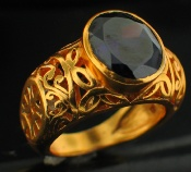 Sterling silver CZ (7ctw)<br> 24k Gold PLATED GoldPlatedRing