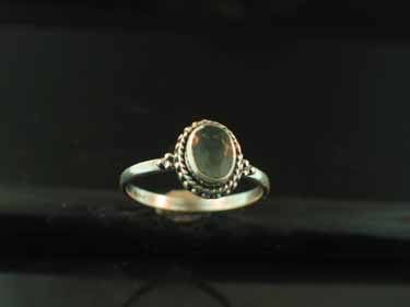 Sterling silver Fluorite (5x7mm) Ring