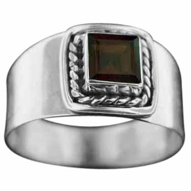 Sterling silver Garnet (2ctw) ring