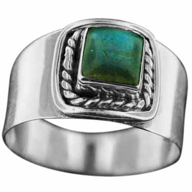 Sterling silver Labradorite (7mm) ring