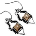 Wholesale Extended Line of Wholesale Earrings (Product ID = 10104_E_Smoky_Topaz_3.40)